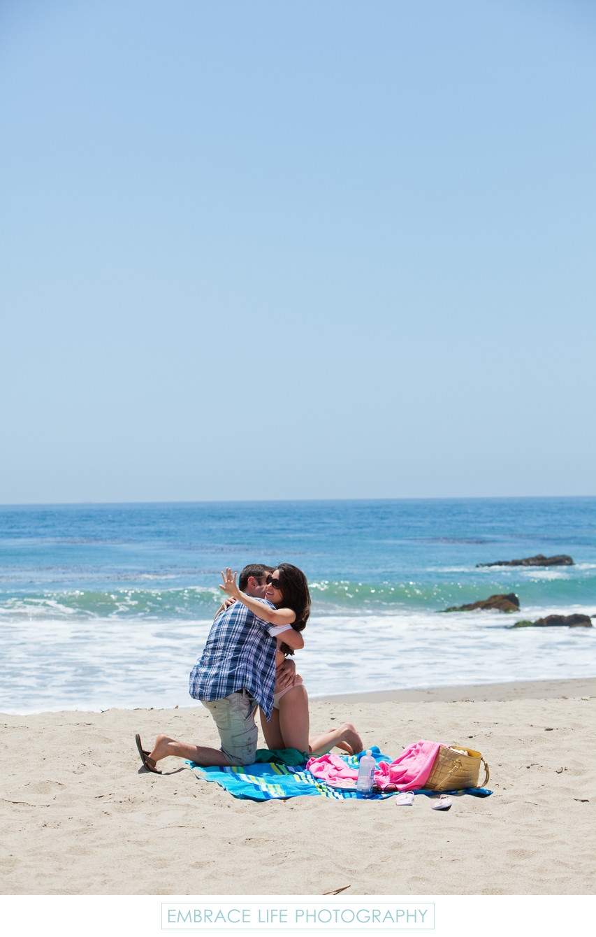 Malibu Beach Marriage Proposal