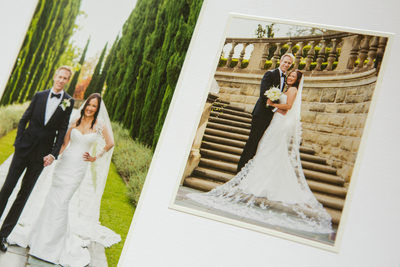 Hand Crafted Elegant Greystone Mansion Wedding Album