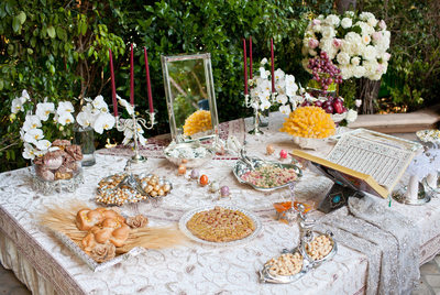 Persian Wedding Sofreh Aghd at Four Seasons Los Angeles