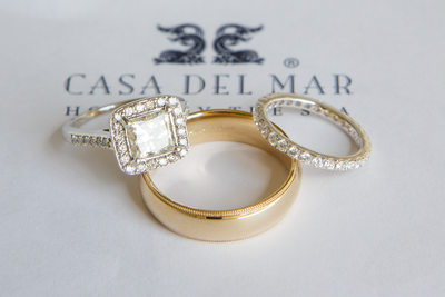 Casa del Mar Wedding Ring Detail Photograph