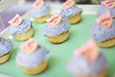 Beverly Hills Baby Shower Cupcakes