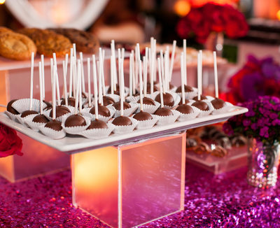 Raised Tray of Chocolate Covered Dessert Pops