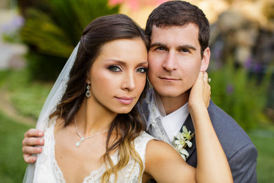 Gorgeous Bride and Groom Four Seasons Wedding Portrait