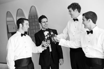 Groomsmen Toast the Groom on his Wedding Day