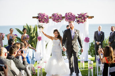 Los Angeles Bride and Groom Celebrate their Marriage