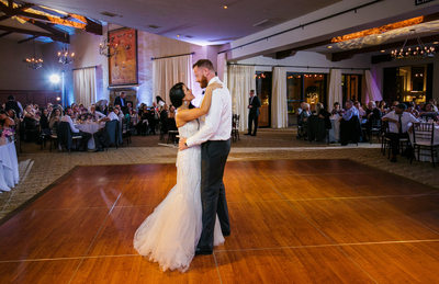 Couple's First Dance in Bel-Air Bay Club Dining Room