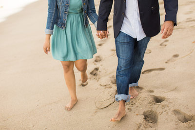 Engagement Portrait During Malibu Proposal