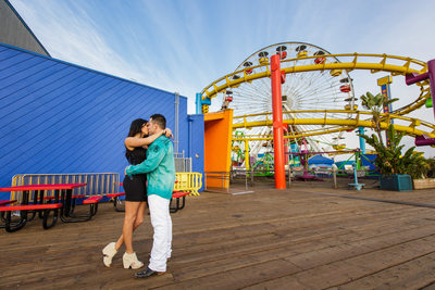 Proposal at Pacific Park on the Santa Monica Pier