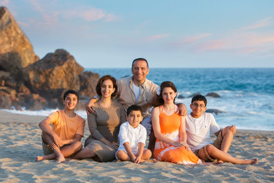 Santa Monica Family Portraits on the Beach