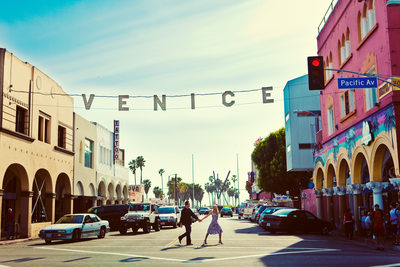Iconic Venice Sign in Venice Beach, California