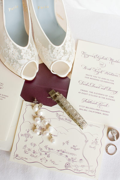 Saddlerock Ranch Wedding, Malibu, CA - Stationery