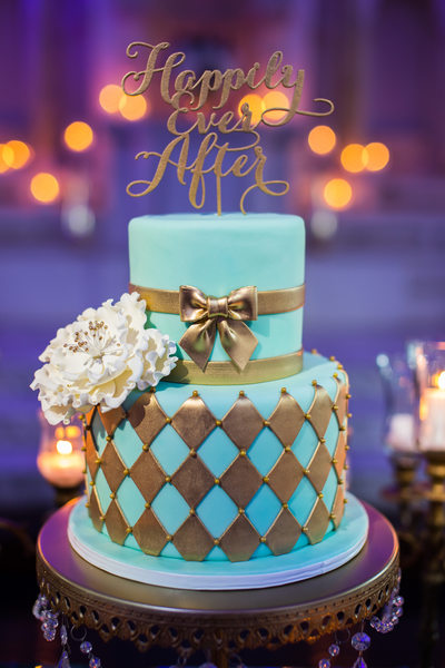 Gorgeous Cake at a Vibiana Wedding in Los Angeles, CA
