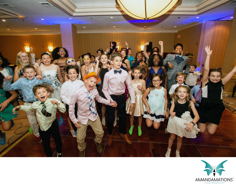 VA Bar Mitzvah Group Shot Jumping