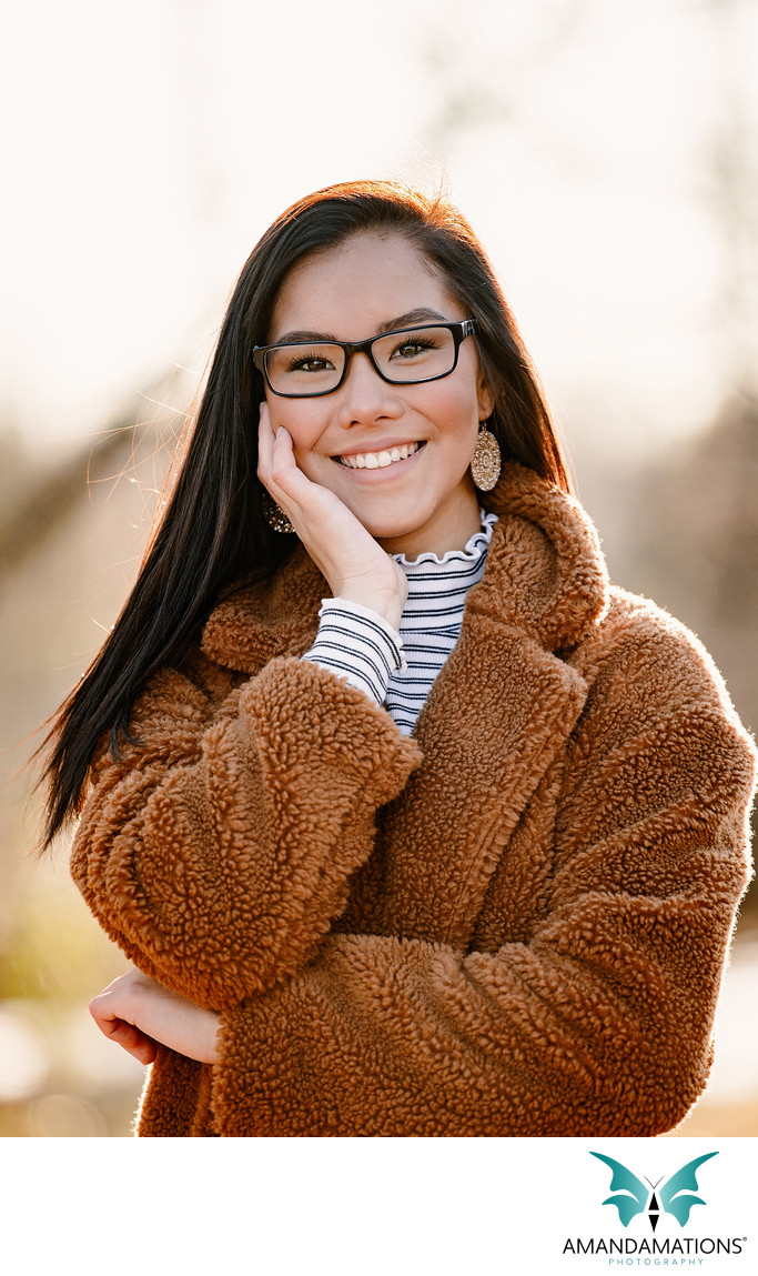 Winter Senior Photo by Amandamation