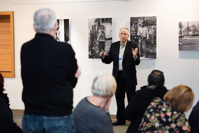 Gallery Photography Exhibit Photo of Artist Lecturing