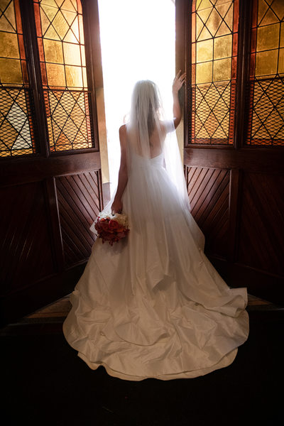 Bride leaving Dahlgren Chapel