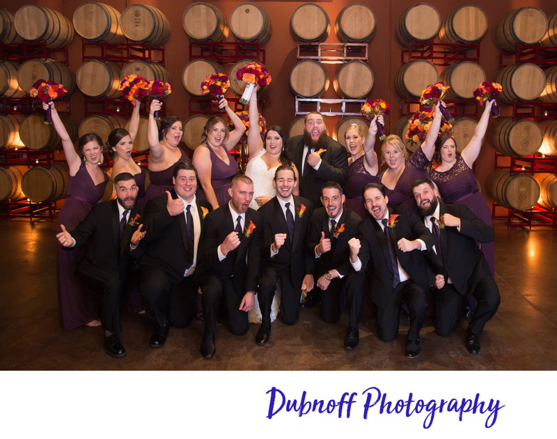 Fun wedding party at Livermore winery