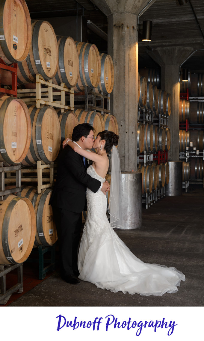 Wente Vineyards Cellar Room - Livermore Wedding Photography