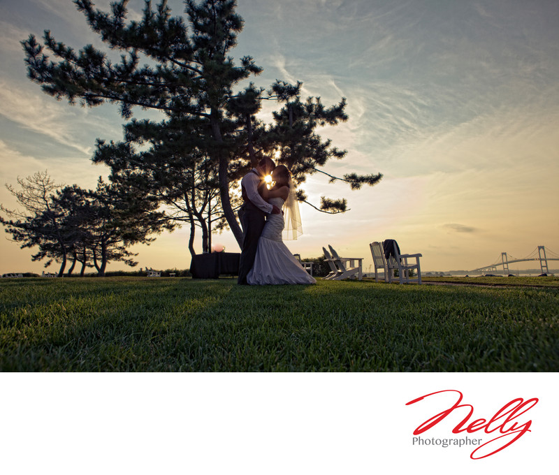 Newport Hyatt Wedding Day Sunset