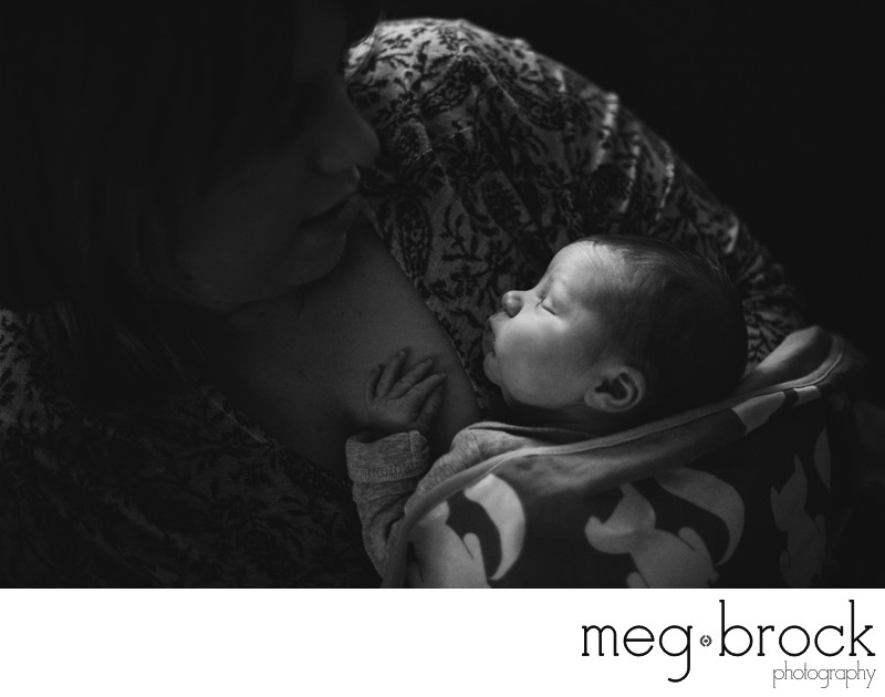Bucks county lifestyle documentary newborn photography