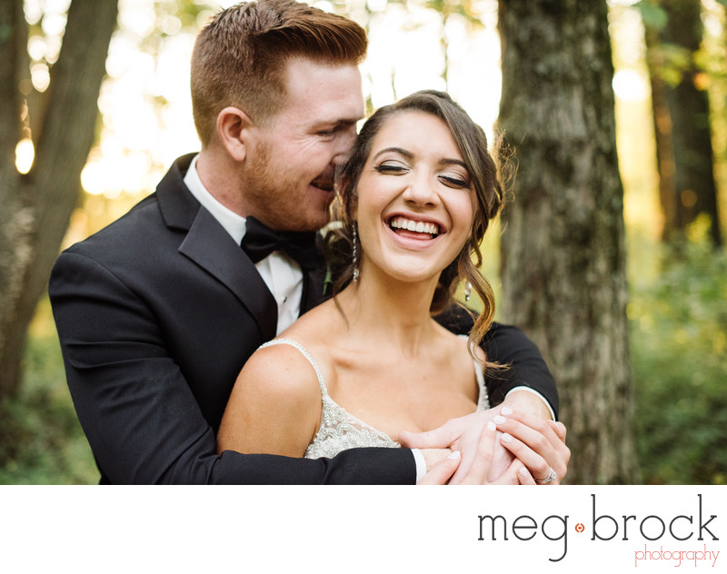 Beautiful Churchville Nature Center Bride and Groom