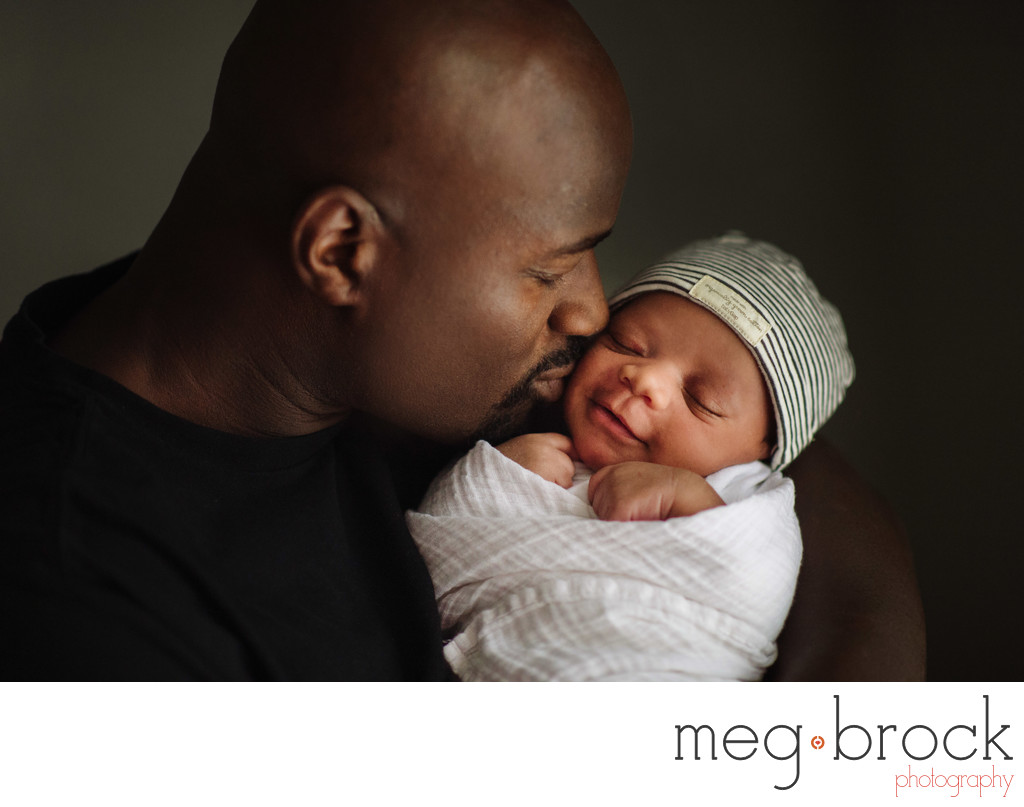 Best Father Son Newborn Chester County Photography