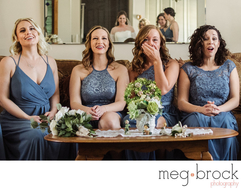Bucks County Bridesmaids Candid Wedding Photographer