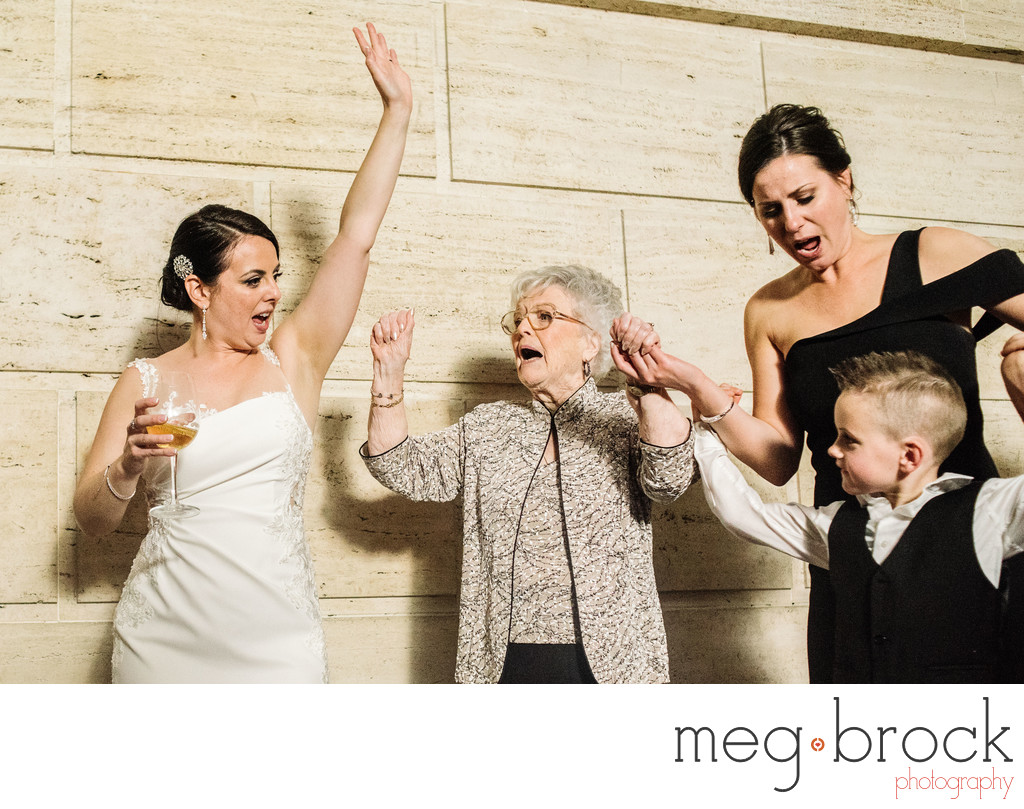 Grandmother Dancing Documentary Wedding Photography