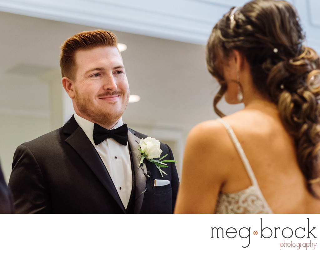 Smiling Groom At  North & Southampton Reformed Church