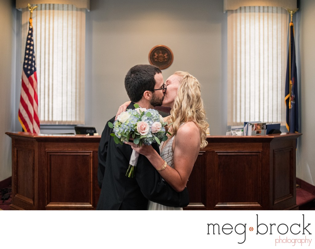 Bucks County PA City Hall Elopement