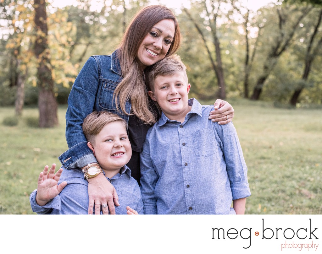 Langhorne Family Portrait Session Mom and Boys