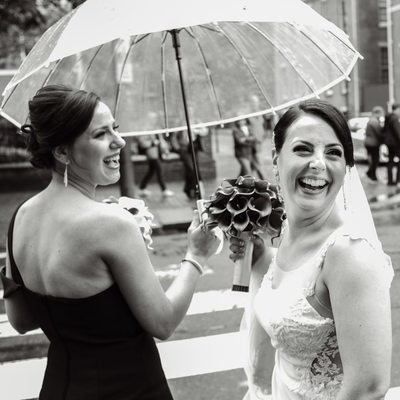 Rainy Philadelphia Wedding Day