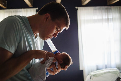 Newborn Fatherhood Documentary Philadelphia Photography