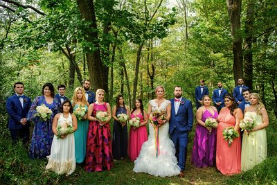 New Jersey Colorful Bridal Party Photographer