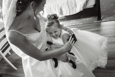 Happy Pennsylvania Flower Girl And Bride Photo
