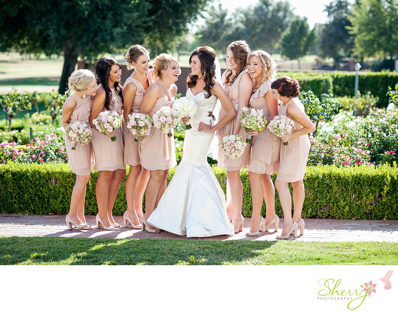Wedding Photography bridesmaids Seven Oaks Bakersfield
