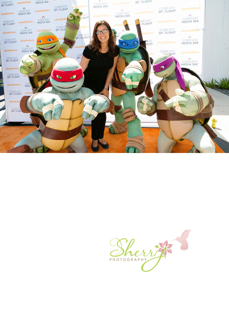 Sherri with Teenage Mutant Ninja Turtles
