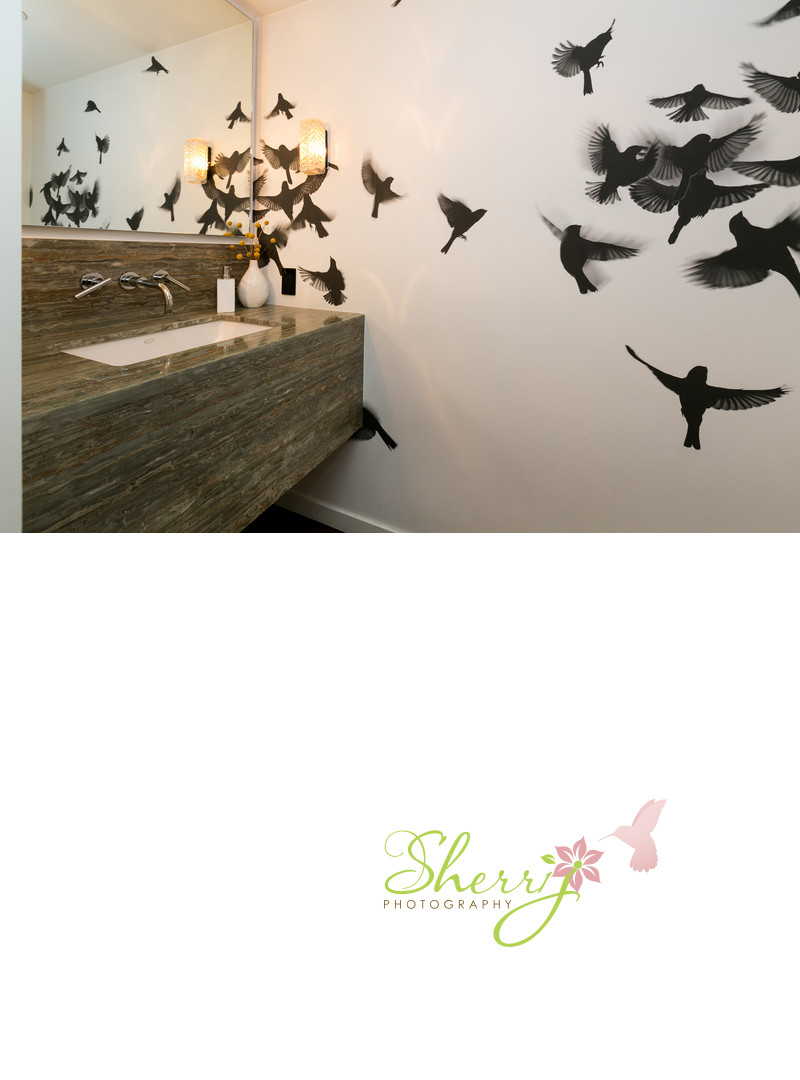 bathroom wall decal birds