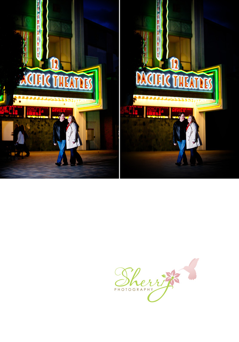 Pacific Theaters sign retouch