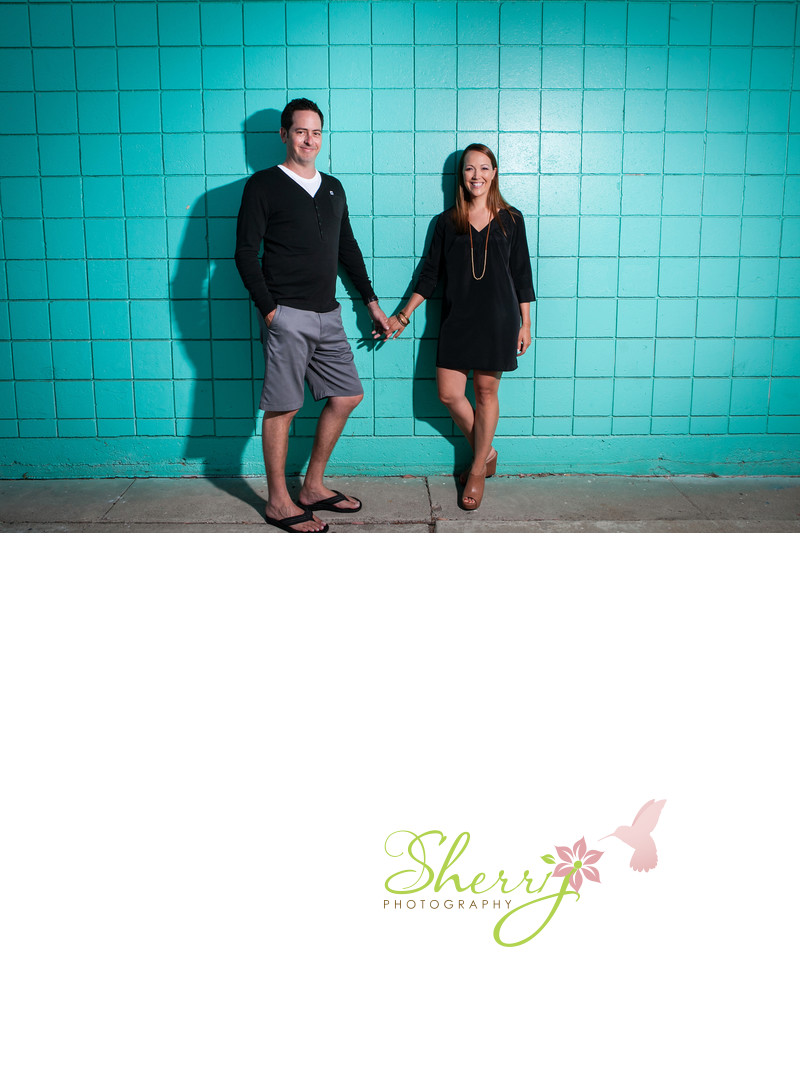HB Engagement Teal Wall