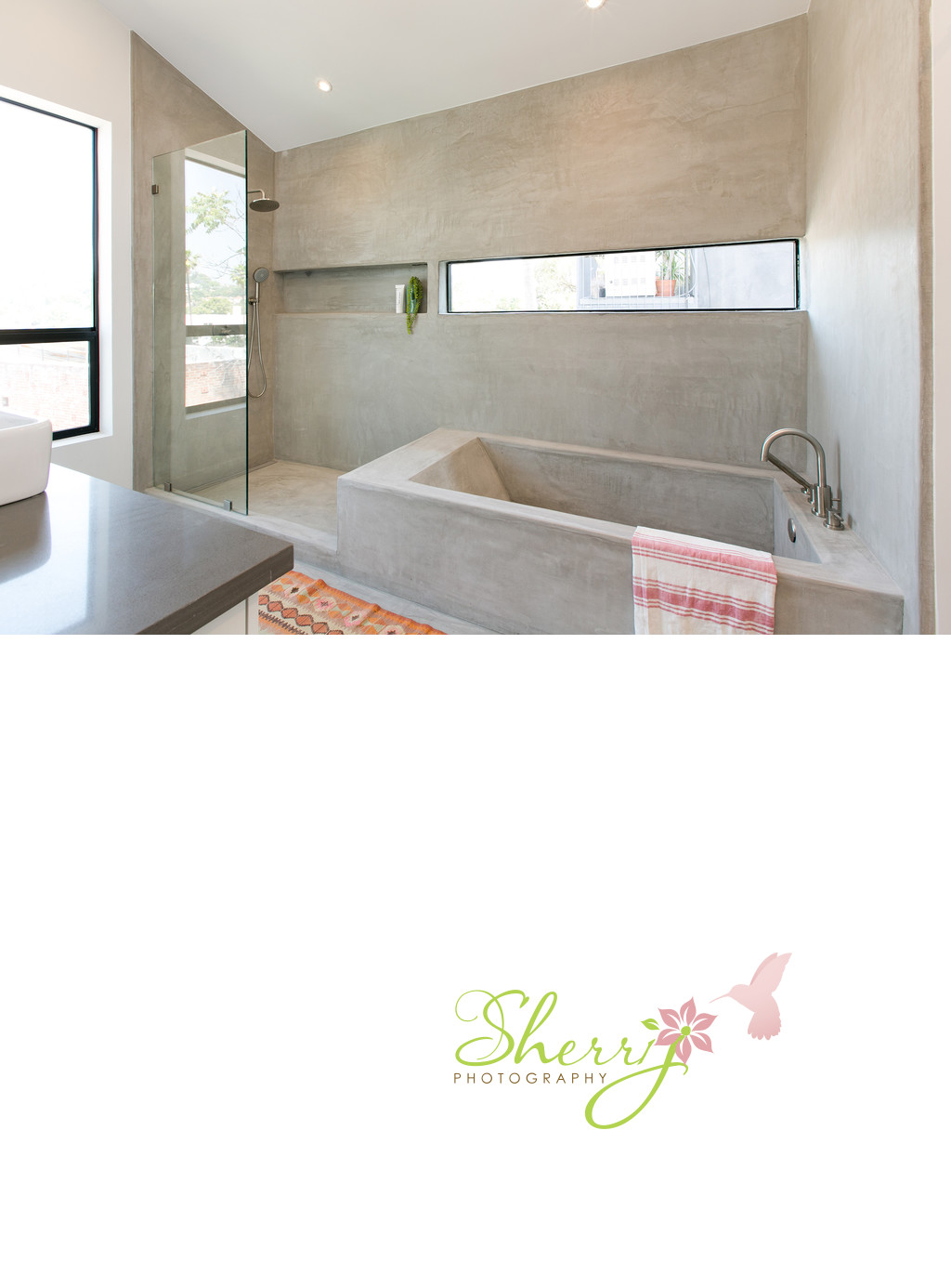 Cement Bath Tub and Shower