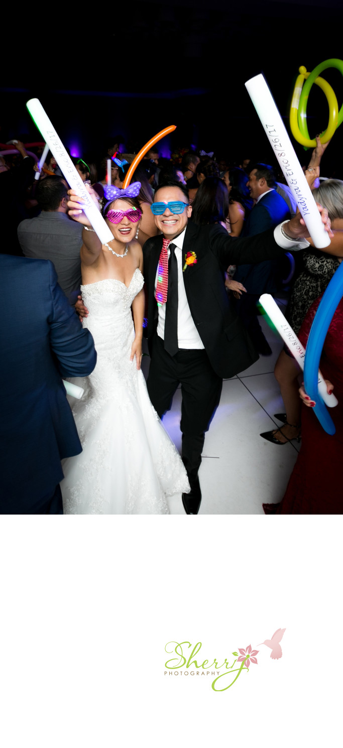 Bride and Groom dance party