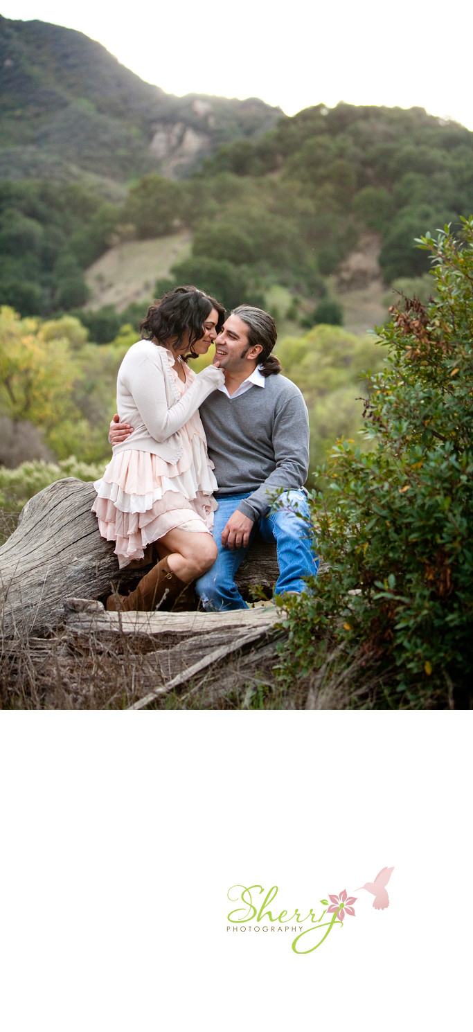 Malibu Engagement Session Ruffles