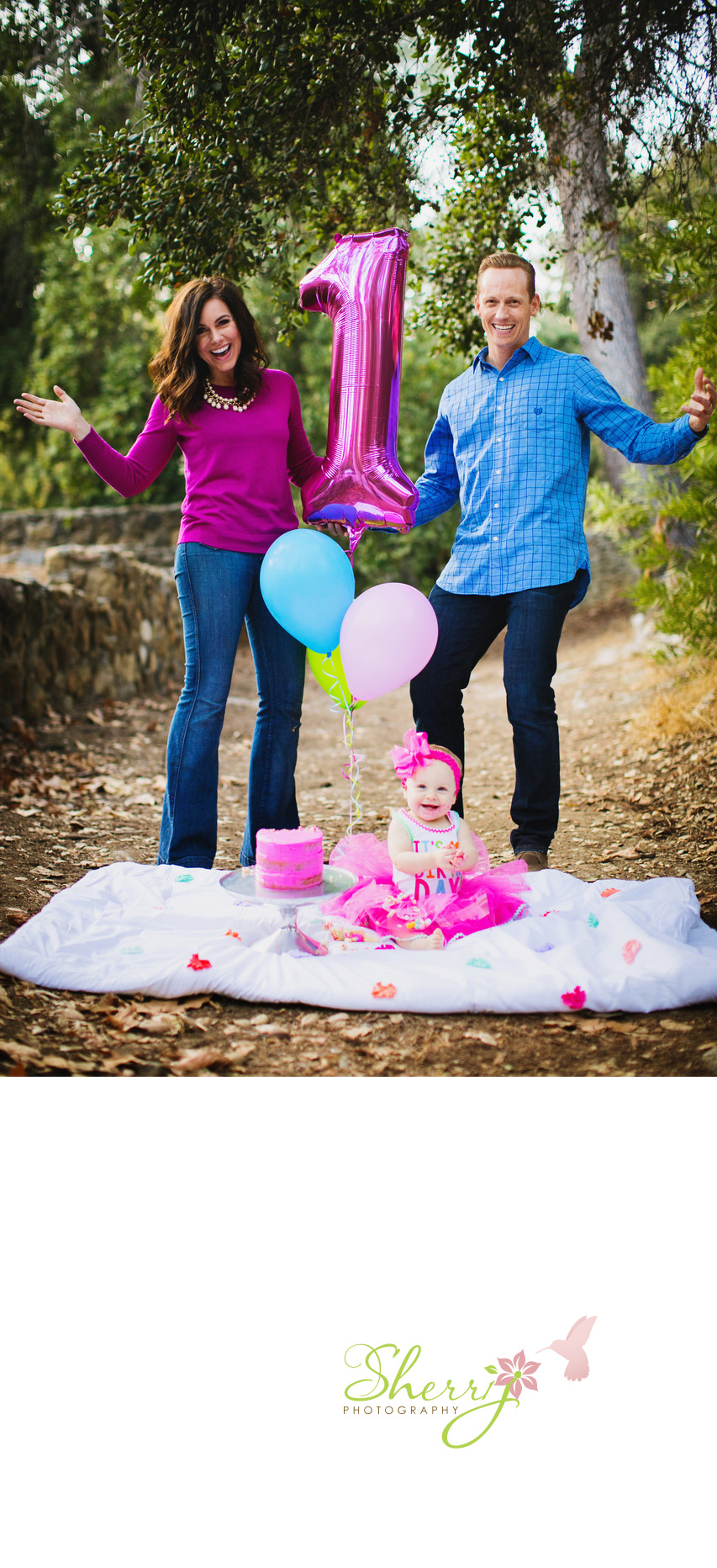 Jen Rylan and Leighton's first birthday