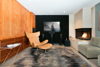Hollywood Hills Media Room