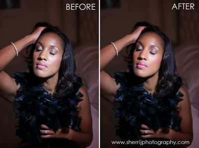 beauty retouch old hollywood boudoir