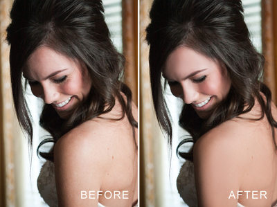 skin smoothing retouch