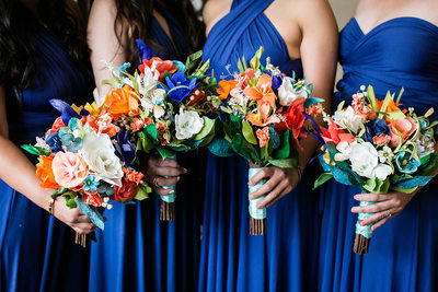 diy bridesmaids paper flowers