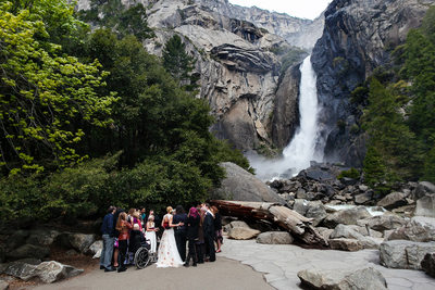 Yosemite Waterfall Wedding