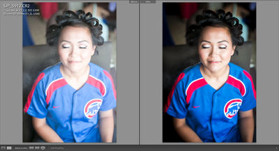 color correction getting ready cubs